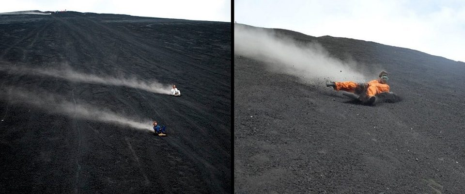 Deslizamento em vulcão: A modalidade dos corajosos