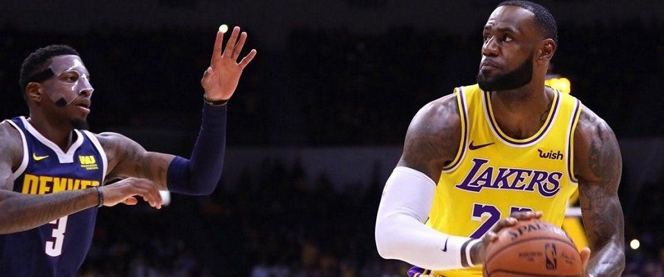LeBron desequilibra e Lakers quebram invencibilidade do Nuggets na NBA