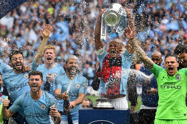 City conquista Copa da Inglaterra e Tríplice Coroa