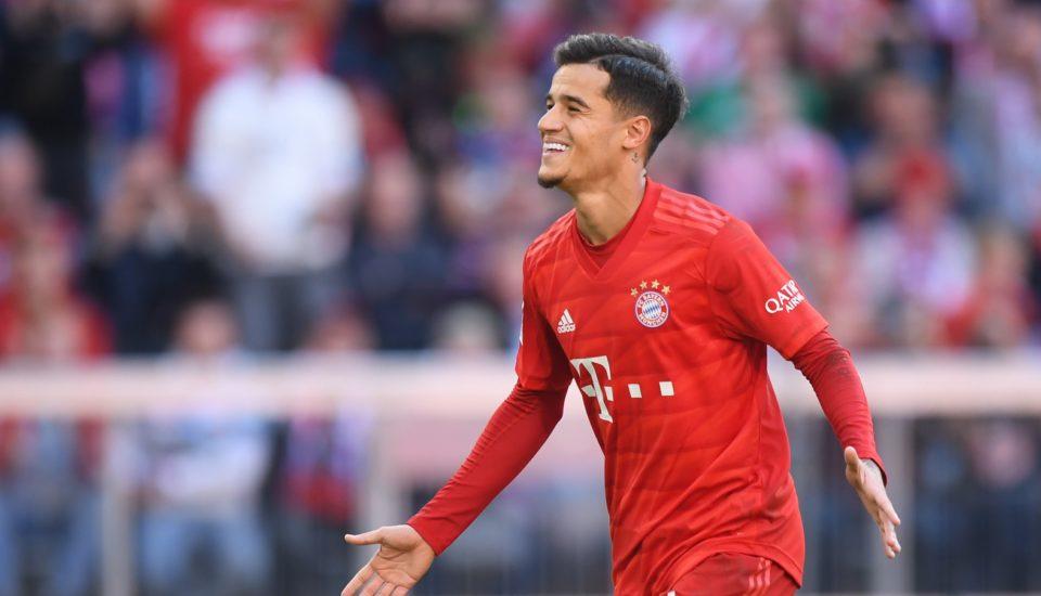 O primeiro gol de Coutinho pelo Bayern